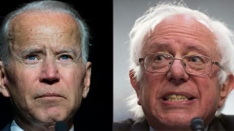 Joe Biden et Bernie Sanders, montage (image d'illustration).