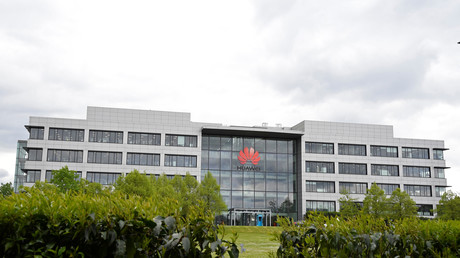 Le siège de Huawei au Royaume-Uni, à Reading, dans le sud de l'Angleterre, photographié le 2 mai 2019.