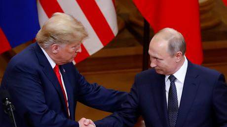 Donald Trump et Vladimir Poutine à Helsinki, en juillet 2018 (image d'illustration).