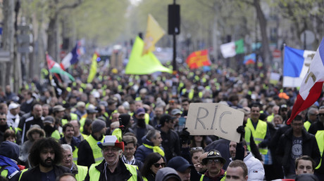 Manifestation des Gilets Jaunes le 13 avril (photo d'illustration)