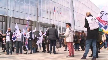 Manifestation devant le Tribunal de grande instance de Paris à l'ouverture du procès le 6 mai (image d'illustration).