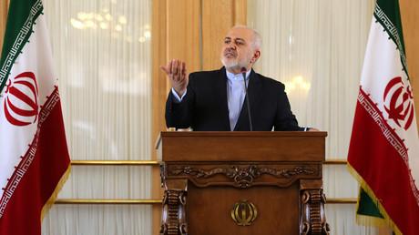Le ministre iranien des Affaires étrangères, Mohammad Javad Zarif, lors d'une conférence de presse à Téhéran le 13 février 2019 (image d'illustration).