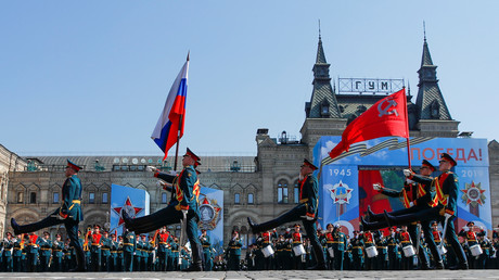 La répétition du défilé du Jour de la Victoire, le 7 mai 2019, à Moscou (image d'illustration).