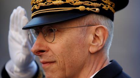 Didier Lallement lors de la cérémonie d'inauguration de son poste le 21 mars 2019 à Paris.