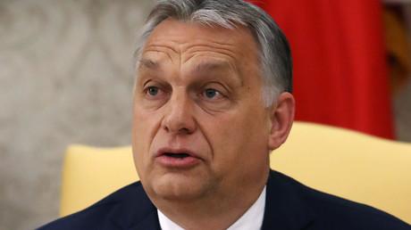 Viktor Orban, le Premier ministre hongrois, lors d'un entretien avec le président américain Donald Trump, dans le bureau ovale, le 13 mai 2019, à Washington (image d'illustration).
