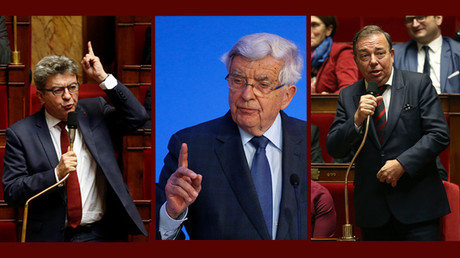 Jean-Luc Mélenchon, Jean-Pierre Chevènement et Christian Hutin (images d'illustration).