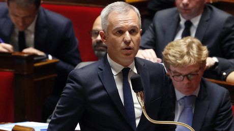 Fançois de Rugy lors des questions au gouvernement, le 30 avril 2018, à l'Assemblée nationale à Paris (image d'illustration).