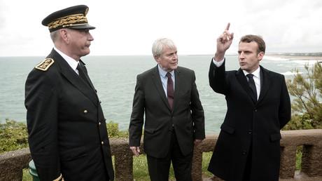 Emmanuel Macron lors de la préparation du G7 à Biarritz le 17 mai 2019.