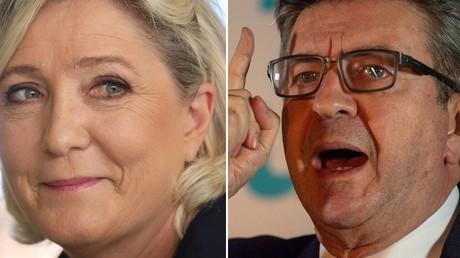 Marine Le Pen (à gauche) et Jean-Luc Mélenchon (à droite) (image d'illustration).
