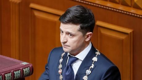 Volodymyr Zelensky, après avoir prêté serment lors de la cérémonie d'investiture du président ukrainien, le 20 mai 2019 (image d'illustration).