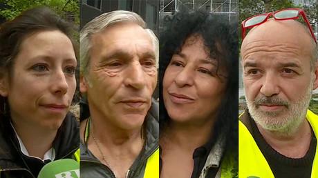 Manifestants Gilets jaunes interviewés par RT France le 18 mai 2019.