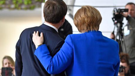 Emmanuel Macron et Angela Merkel, le 29 avril 2019 (image d'illustration).
