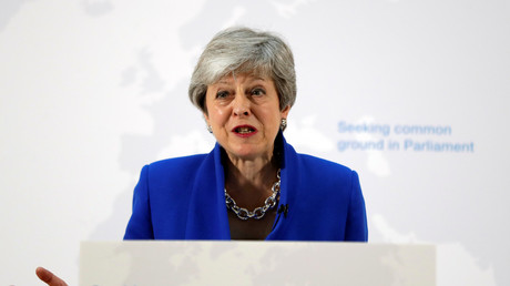 Theresa May le 21 mai 2019.