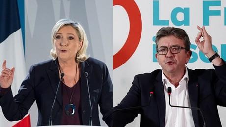 Européennes : Marine Le Pen et Jean-Luc Mélenchon louent le combat des Gilets jaunes
