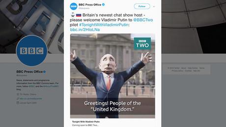 «Gênant», «Télévision à l'agonie» : la BBC lance un talk show présenté par... Vladimir Poutine