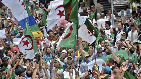 Des Algériens manifestent contre le gouvernement à Alger le 24 mai 2019 (image d'illustration).