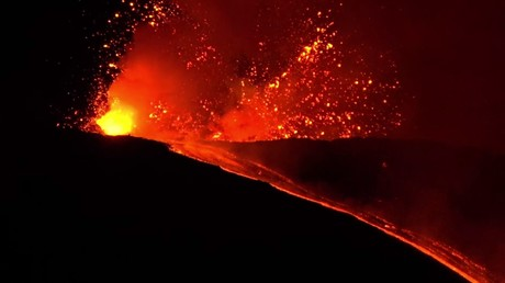 Italie : éruption de l'Etna