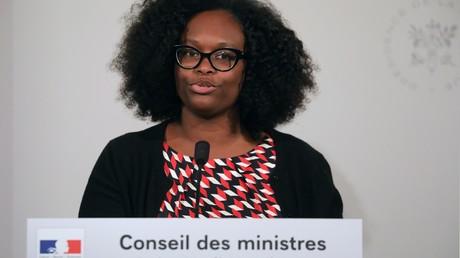 La porte-parole du gouvernement, Sibeth Ndiaye, lors du point presse hebdomadaire du gouvernement, à l'Elysée, le 30 avril 2019, à Paris (image d'illustration).