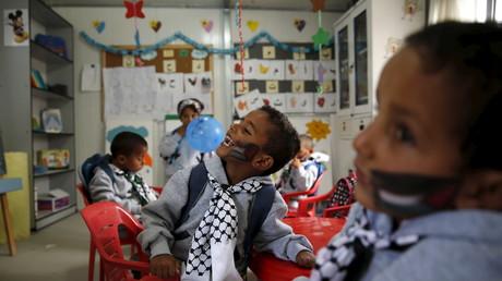 Des enfants palestiniens dans une classe en Cisjordanie (image d'illustration).