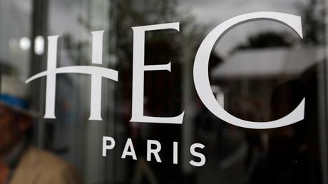 Le logo de HEC Paris à Jouy-en-Josas (78) (image d'illustration).