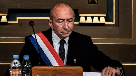 Gérard Collomb dans sa mairie de Lyon en novembre 2018 (image d'illustration).