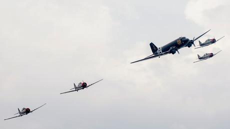 Des avions survolent Portsmouth pour célébrer le 75e anniversaire du débarquement de Normandie