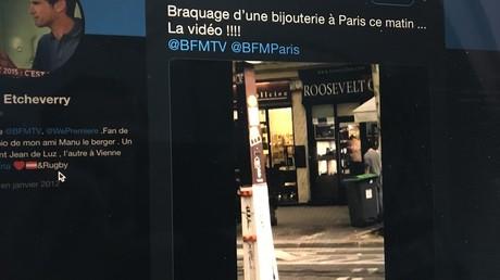 Deux hommes braquent une bijouterie près des Champs-Elysées et prennent la fuite (VIDEOS CHOC)