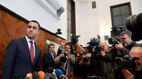 Le vice-Premier ministre italien Luigi Di Maio, chef du Mouvement 5 étoiles (M5S), à une conférence de presse à Rome le 27 mai 2019.