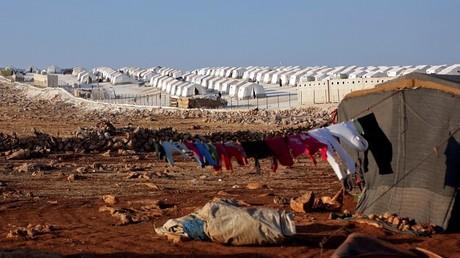 Vue d'un camp de réfugiés près du village de Atimah, dans la province d'Idleb (image d'illustration).