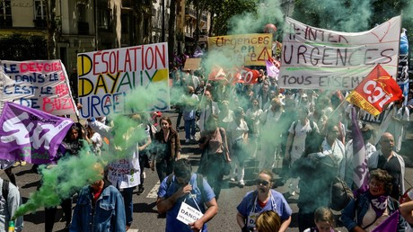 Les services d'urgences manifestaient à Paris le 6 juin (image d'illustration).
