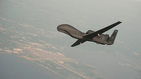 Un drone RQ-4 Global Hawk en phase de test dans le Maryland en 2017 (image d'illustration).