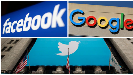 Les logos de Facebook, Google et Twitter (images d'illustration)