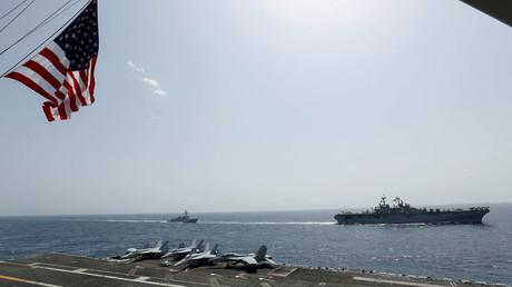 Navires de l'armée américaine en mer d'Arabie, mai 2019 (image d'illustration).