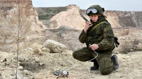 Un ingénieur militaire russe en Syrie (image d'illustration)