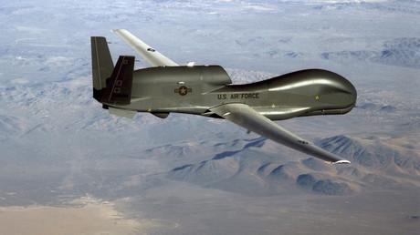 Photo non datée, publiée le 20 juin 2019, montrant un drone de surveillance RQ-4 Global Hawk (image d'illustration).