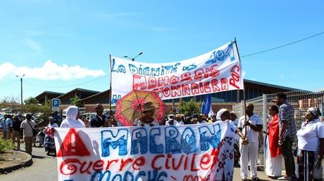 Des Mahorais défilent à Mamoudzou en mai 2018 (image d'illustration).