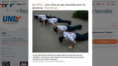 SNU : des jeunes font des pompes en guise de punition, un syndicat dénonce une «violence physique»