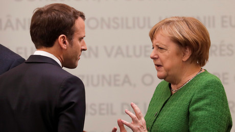 Emmanuel Macron et Angela Merkel en mai 2019 (image d'illustration).