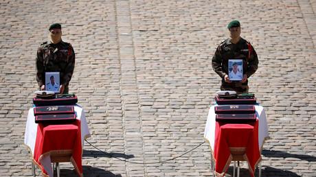 Funérailles aux Invalides des deux commandos Hubert morts lors de l'opération sauvetage des otages au Bénin, Paris le 14 mai (image d'illustration).