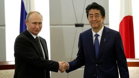 Japon : conférence de presse conjointe de Vladimir Poutine et Shinzo Abe à l'issue du G20