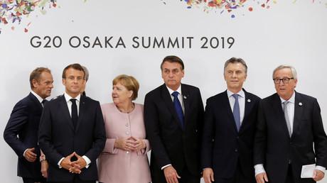 Les dirigeants politiques lors du sommet à Osaka, au lendemain de l'accord entre le Mercosur et l'UE.