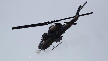 Un hélicoptère de l'armée turque lors d'exercices d'entraînement (image d'illustration).
