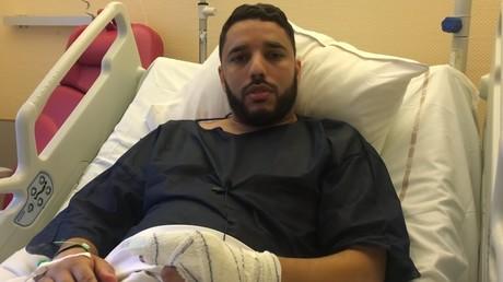 L'imam de Brest sur son lit d'hôpital, le 29 juin.