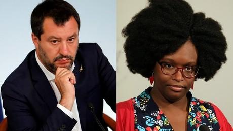 Vers un regain de tension diplomatique entre Paris et Rome ? A gauche, le ministre italien de l'Intérieur Matteo Salvini; à droite la porte-parole du gouvernement français Sibeth Ndiaye (image d'illustration).
