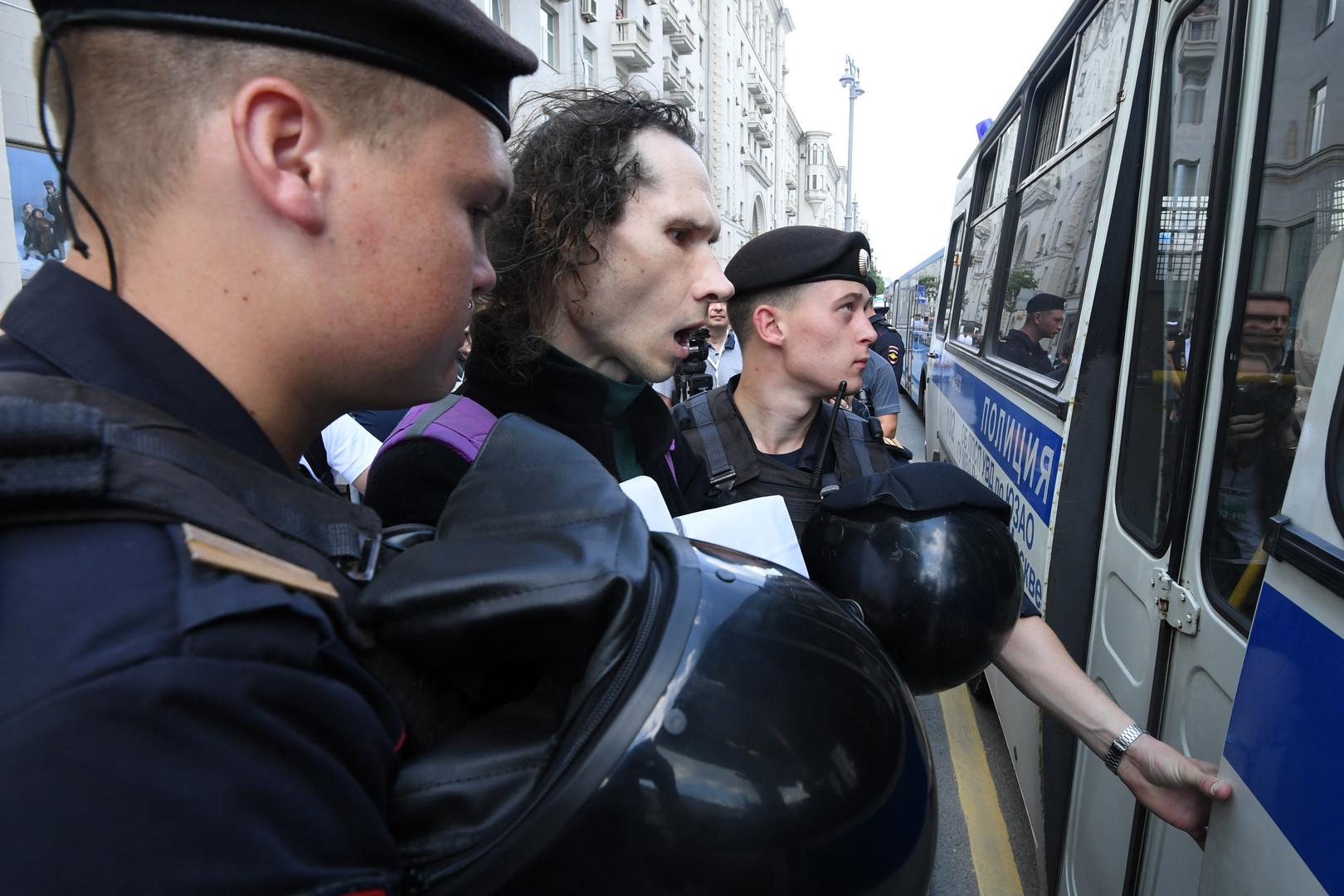 Russie : plus de 1 000 interpellations lors d'une manifestation non autorisée à Moscou
