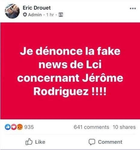 Le Gilet jaune Jérôme Rodrigues placé en garde à vue pour violences conjugales, sa compagne dément