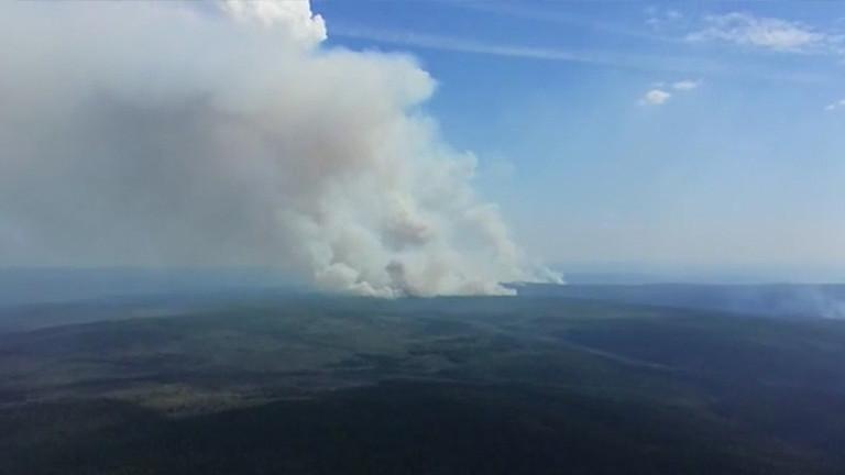 Etat d'urgence dans quatre régions de Russie en raison de gigantesques feux de forêt (IMAGES)