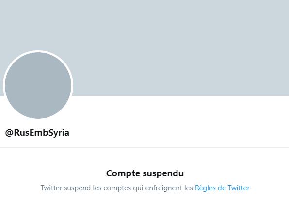 Moscou enjoint à Twitter de débloquer immédiatement le compte de l'ambassade russe en Syrie