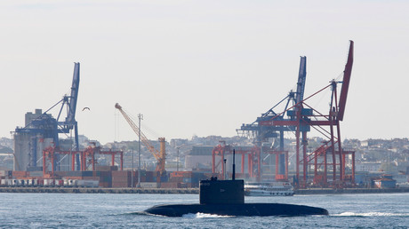 Un sous-marin de la marine russe dans le Bosphore, 1er mai 2019 (image d'illustration).