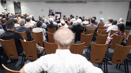 Réunion publique avec Christian Jacob, chef du groupe parlementaires les Républicains, le 26 juin 2019 à Saint-Etienne. (image d'illustration)